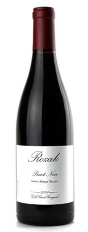 Rozak Pinot Noir Gold Coast Vineyard